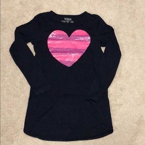Girls Oshkosh envy tunic with sparkly heart